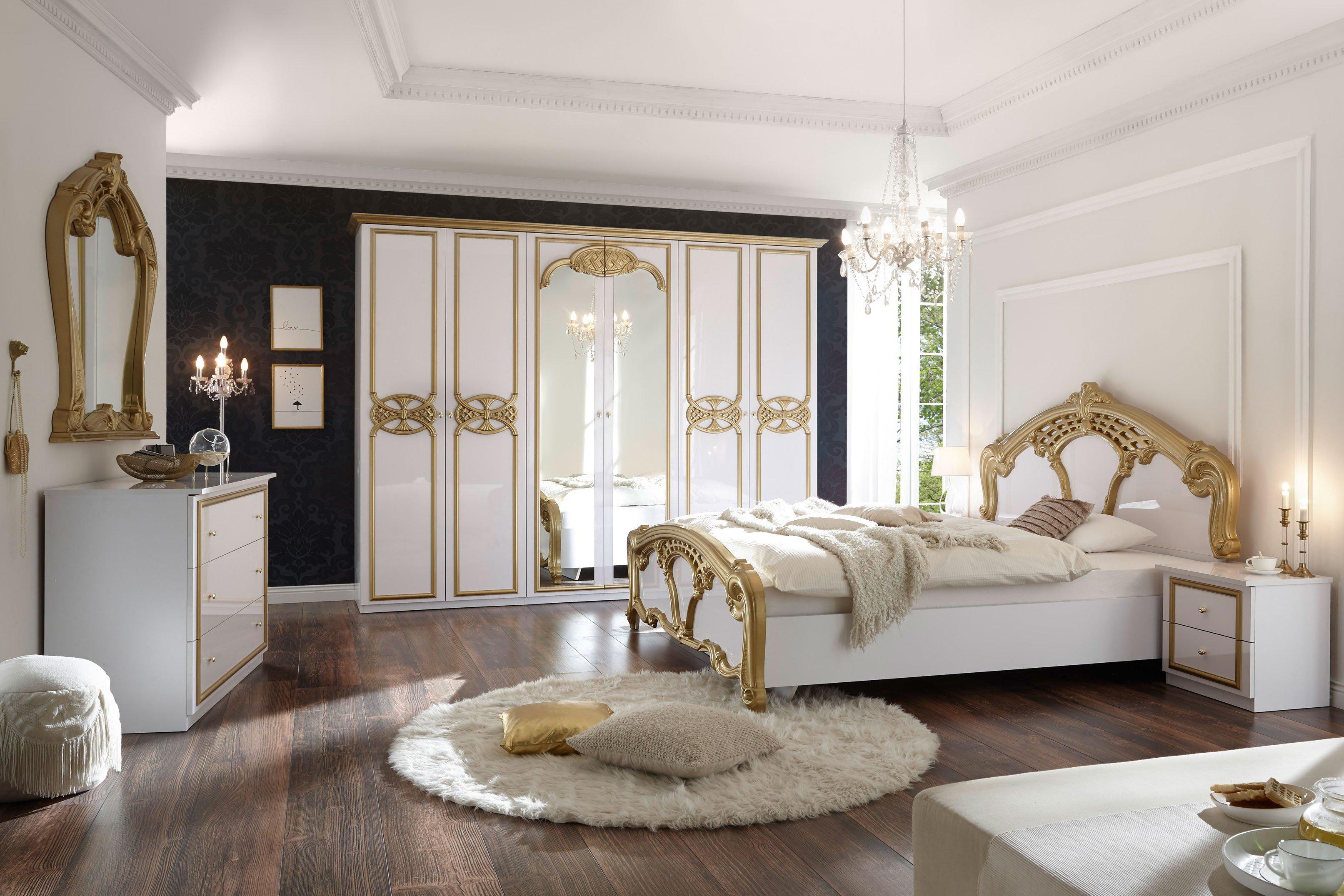 POL Power Claudia Barock-Schlafzimmer weiß - gold | Möbel Letz - Ihr ...