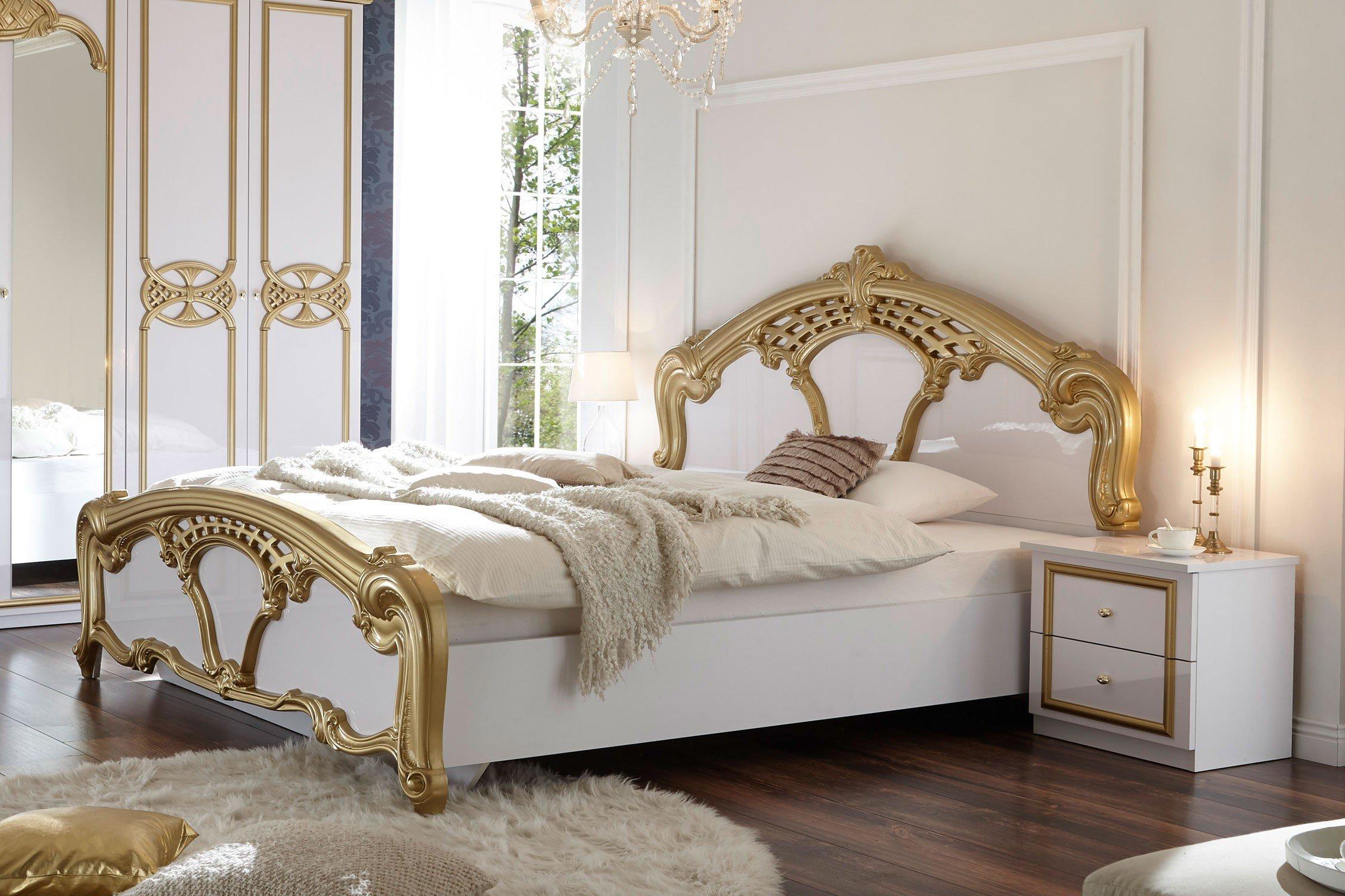 Pol Power Claudia Barock Schlafzimmer Weiss Gold Mobel Letz Ihr Online Shop