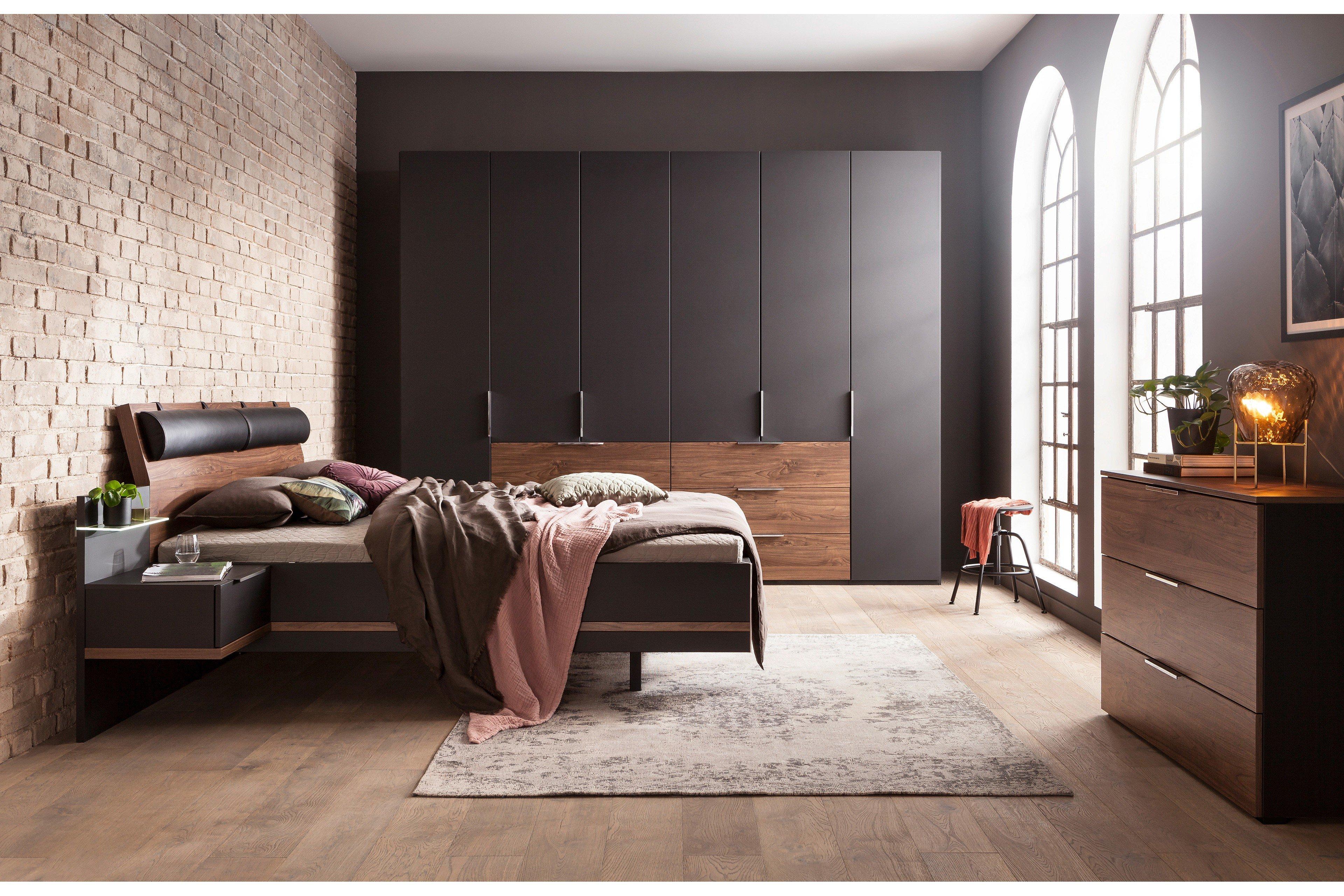 concept me von Nolte - Schlafzimmer basalt-Macadamia Nussbaum