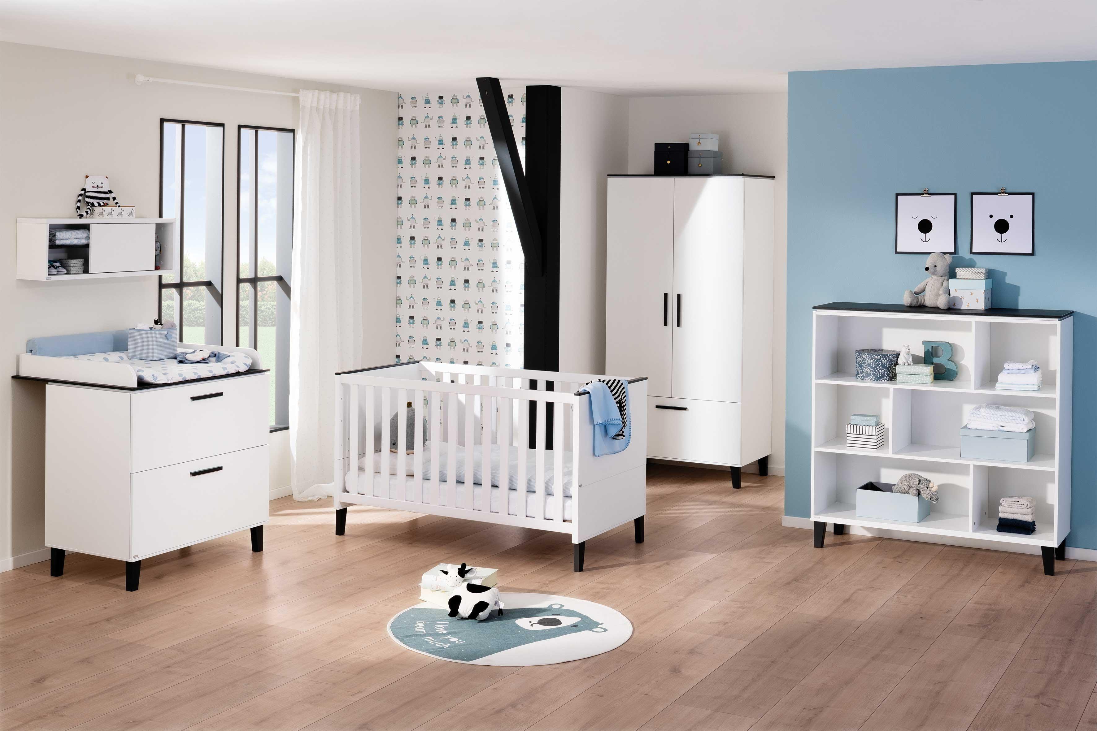 Eliana von Paidi - Babyzimmer-Set 4-teilig weiß - grafitgrau