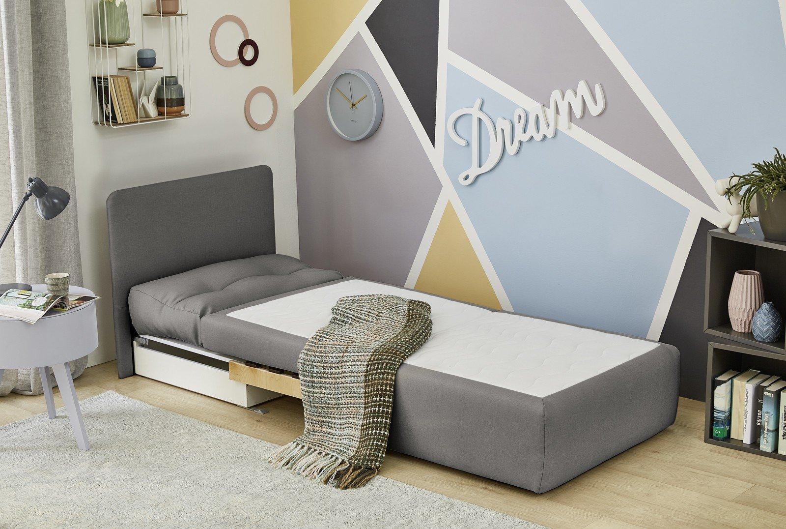 Tunis von Job - Schlafsessel in Grau mit Bettkasten