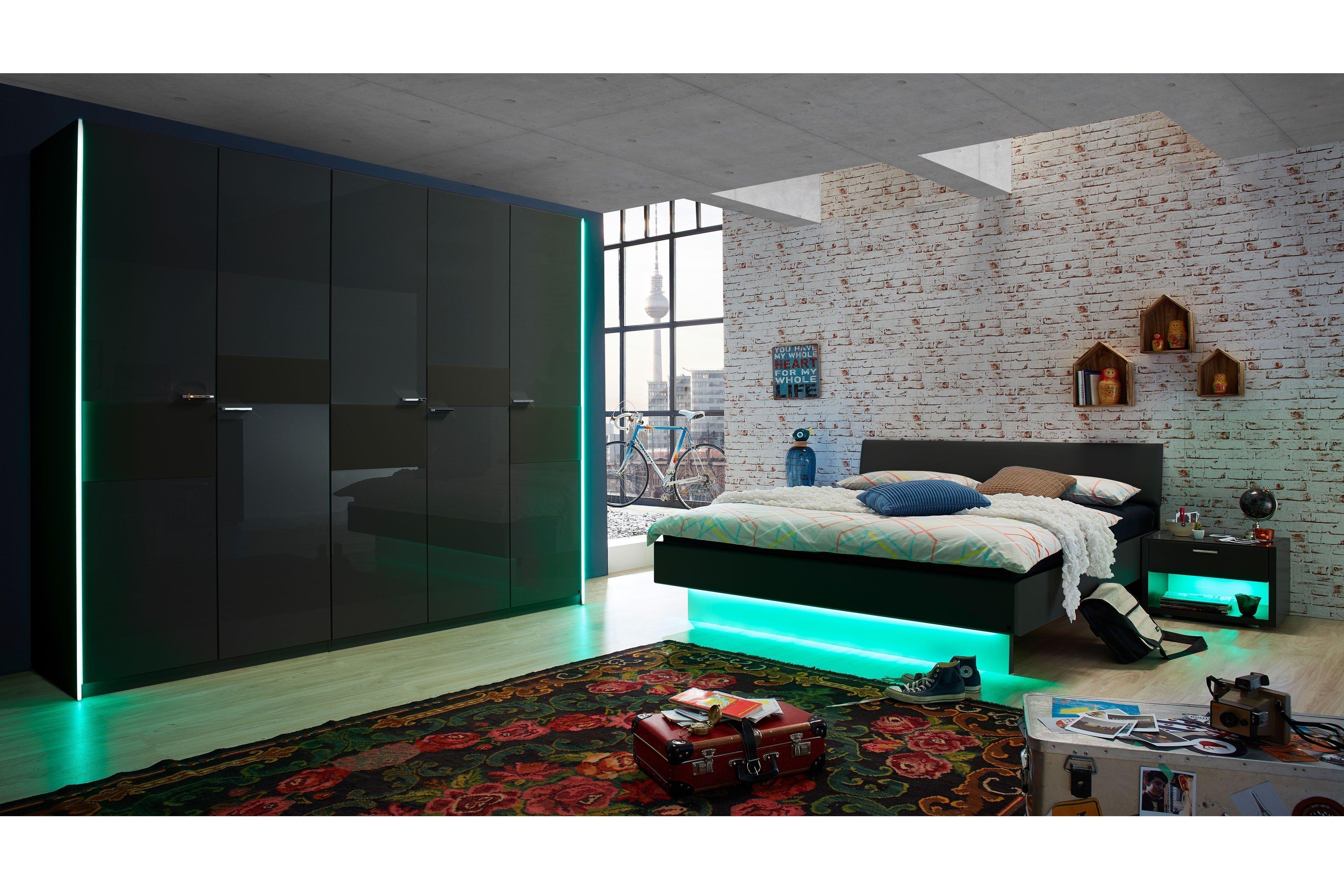 JOY von LEONARDO living - Schlafzimmer mit Glasabsetzungen