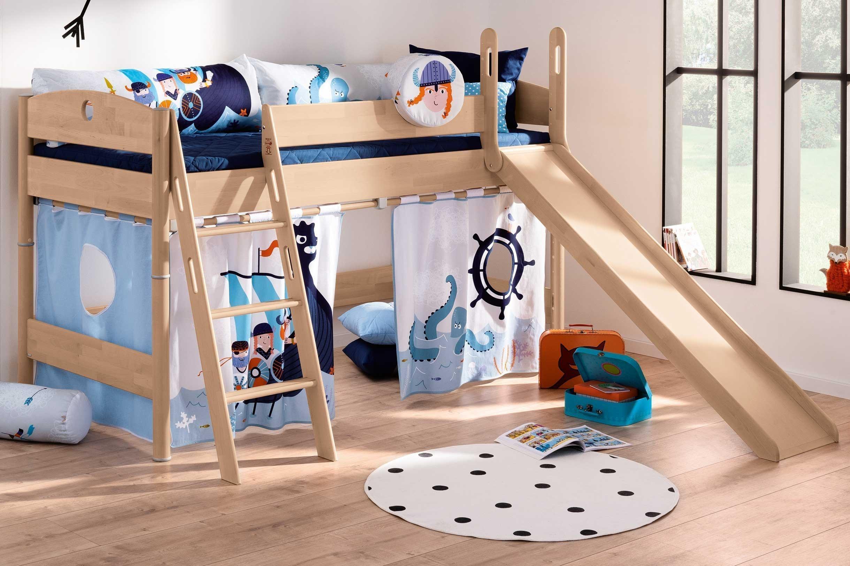 Fleximo Von Paidi Rutschen Spielbett Mit Wikinger Vorhang Set