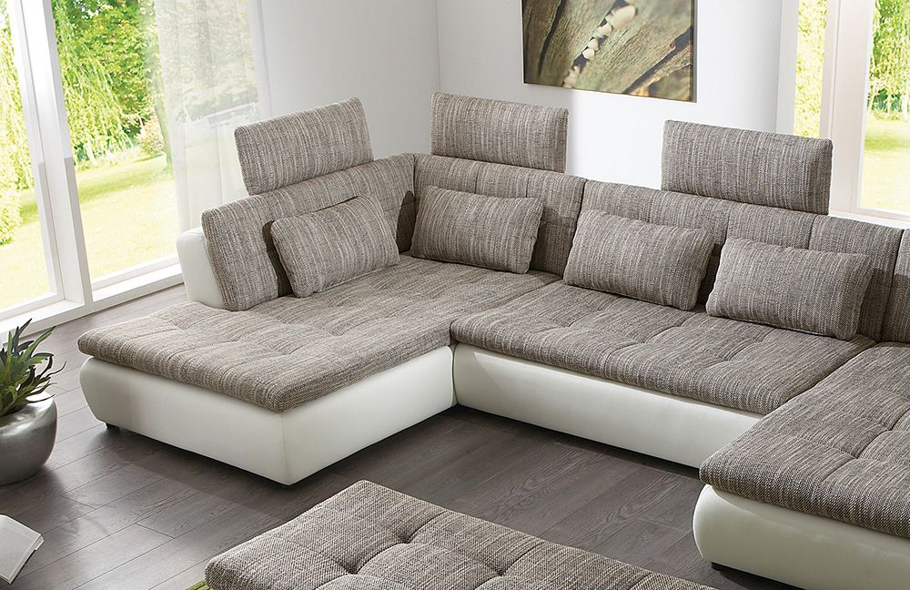 free von megapol wohnlandschaft white esspresso polsterm bel g nstig online kaufen sofa couch. Black Bedroom Furniture Sets. Home Design Ideas
