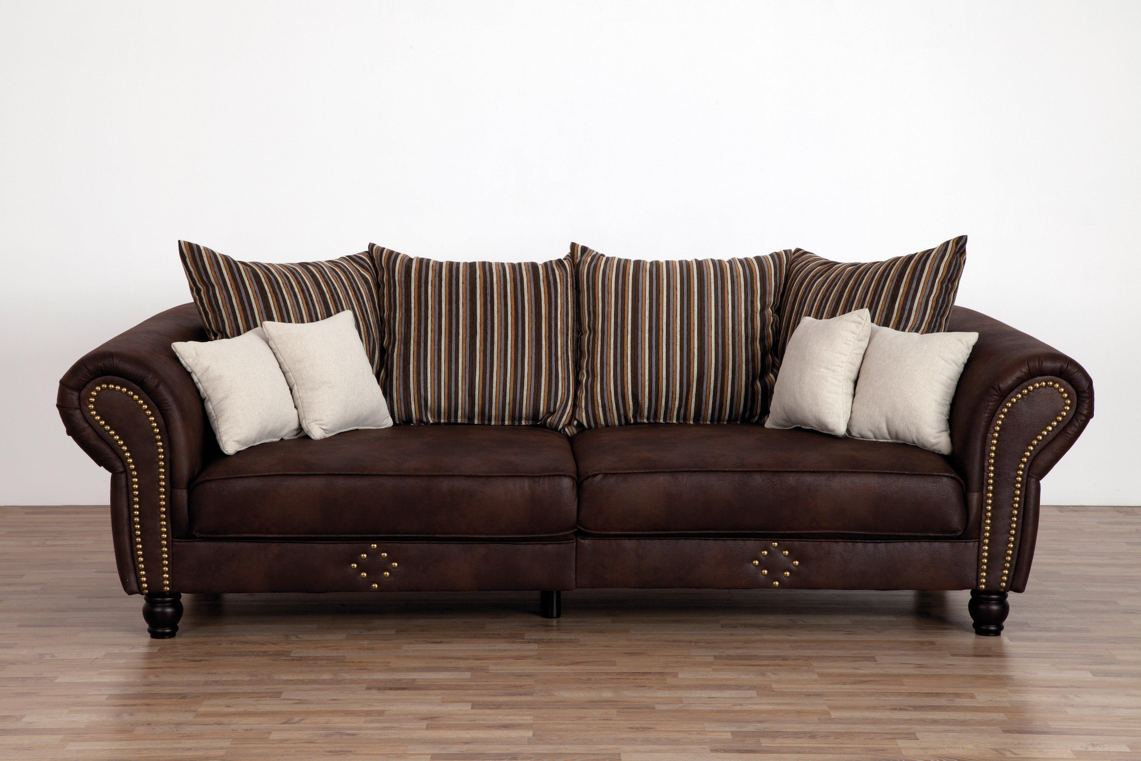 Lennox aus der Kollektion Letz - Chesterfield-Sofa braun-beige
