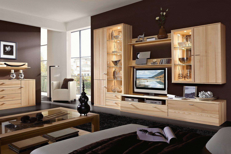 Rietberger Möbelwerke Wohnwand Lyon Allegro 4151 Kernesche Möbel