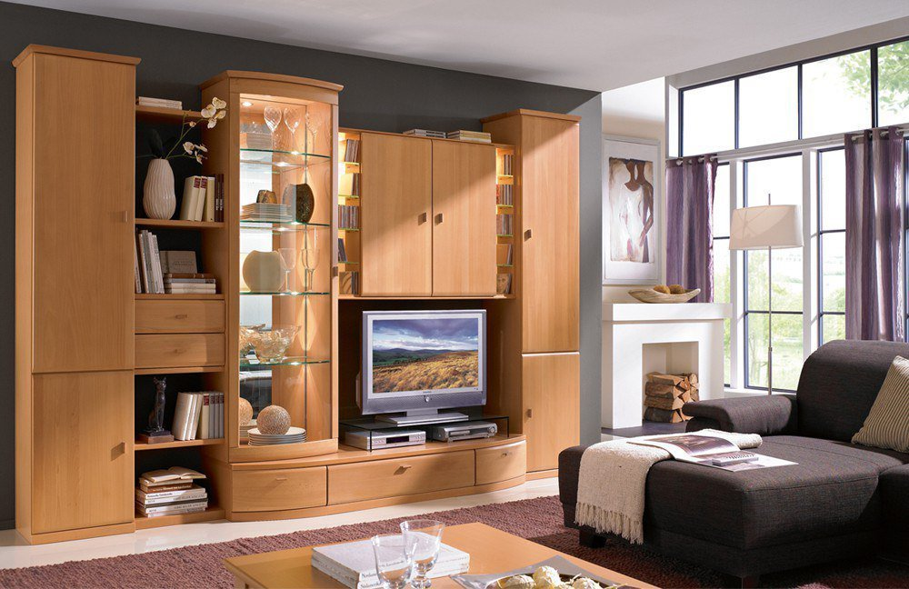 rietberger m belwerke wohnwand lando teilmassive buche. Black Bedroom Furniture Sets. Home Design Ideas