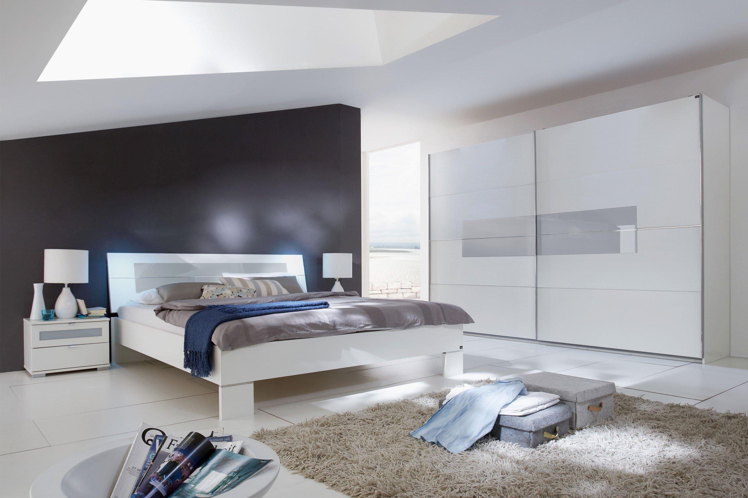 Wimex Schlafzimmer Advantage mit Glasauflage grau | Möbel Letz - Ihr ...