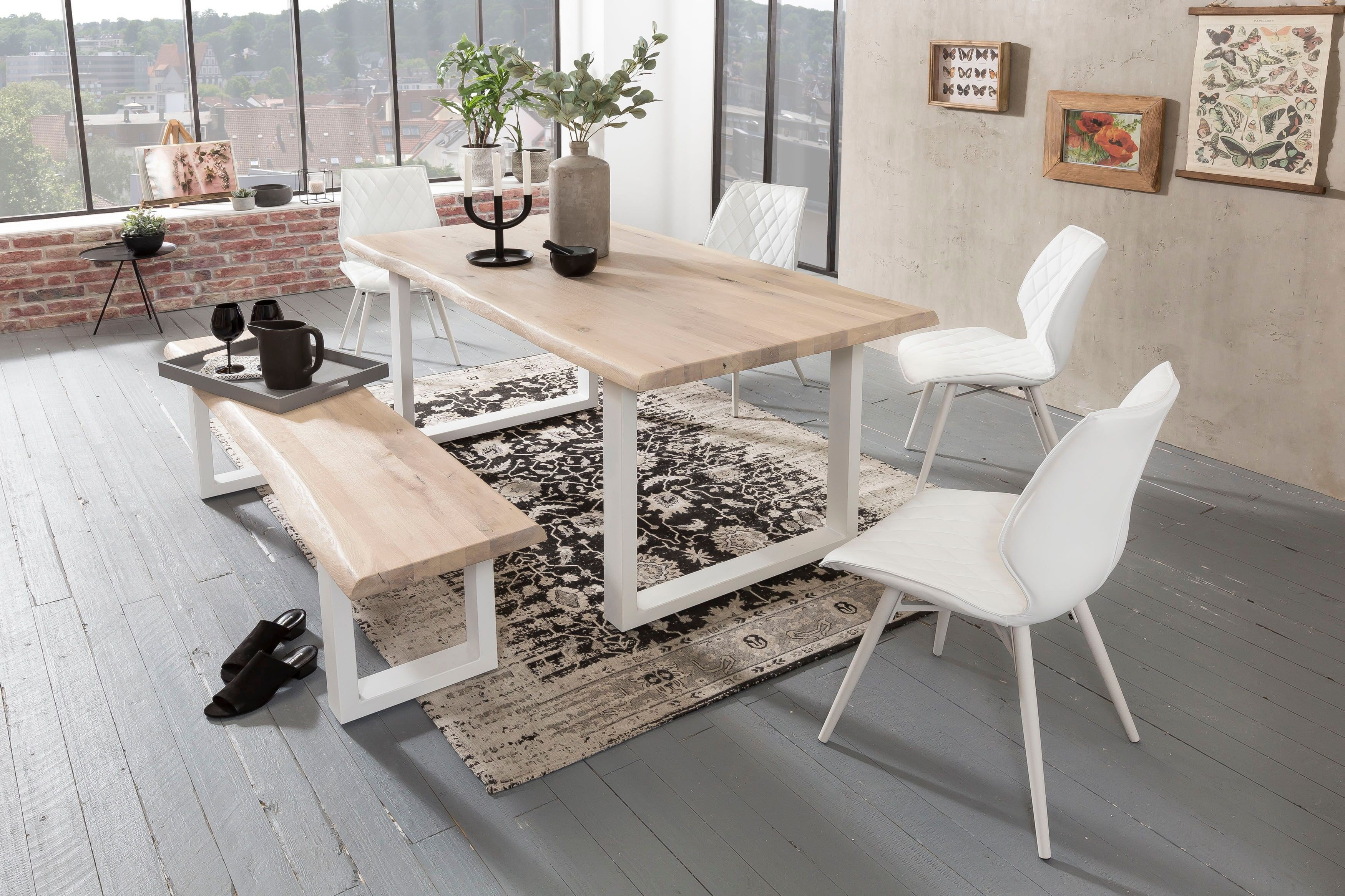 Jaik von Skandinavische Möbel - Esstisch mit echter Baumkante