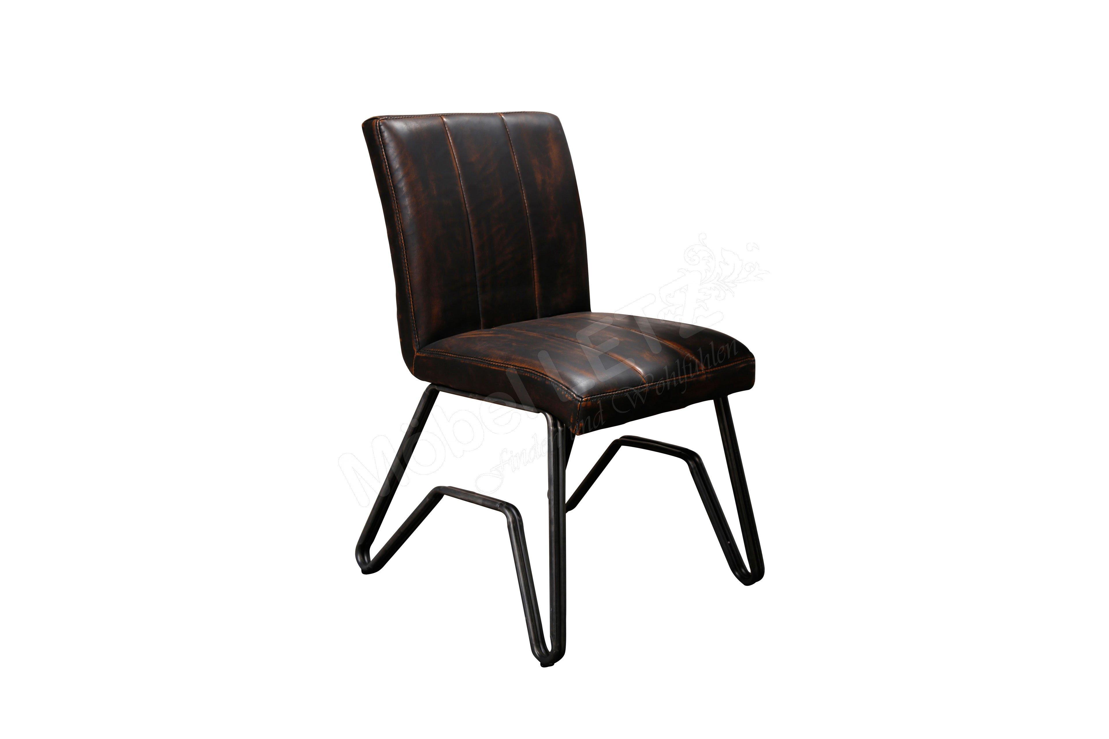 Thorge von Zijlstra - Stuhl Kunstleder/ Doppel-W-Gestell
