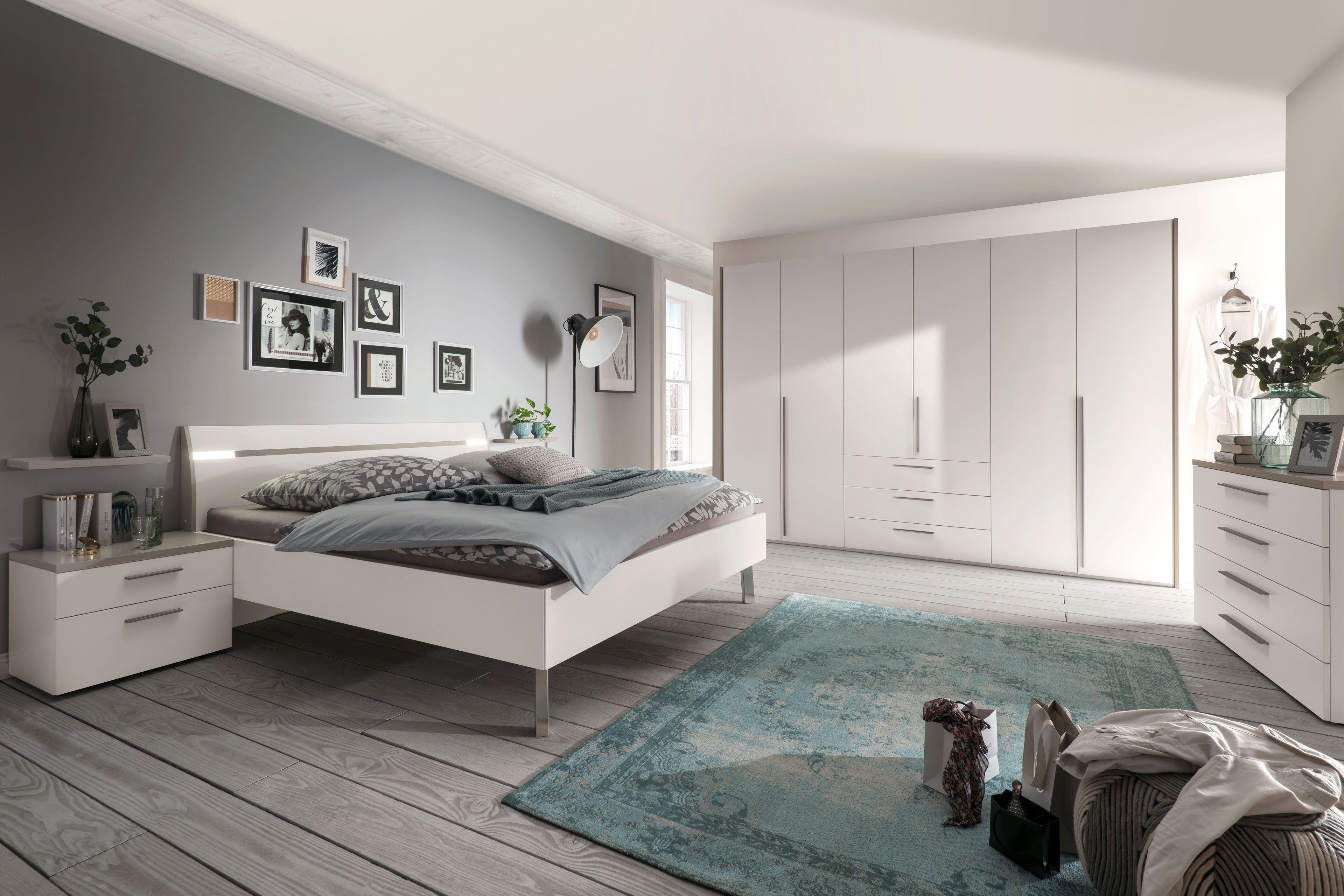Gloss von Loddenkemper - Schlafzimmer-Set Lack weiß - sahara