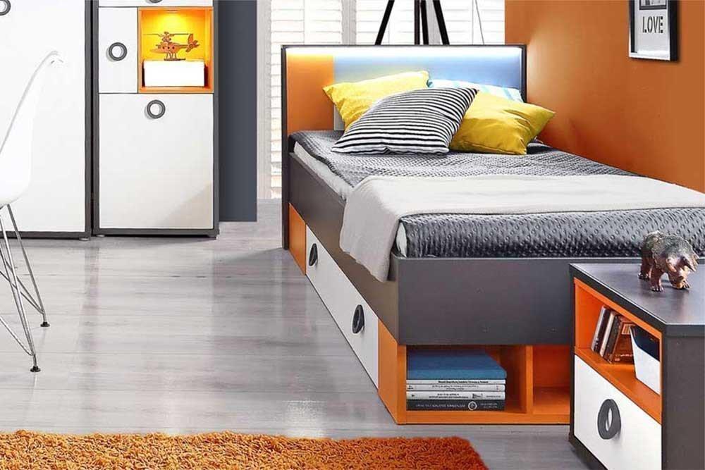 Colors Von Forte Jugendbett 90x200 Cm Mit Ablagefächern