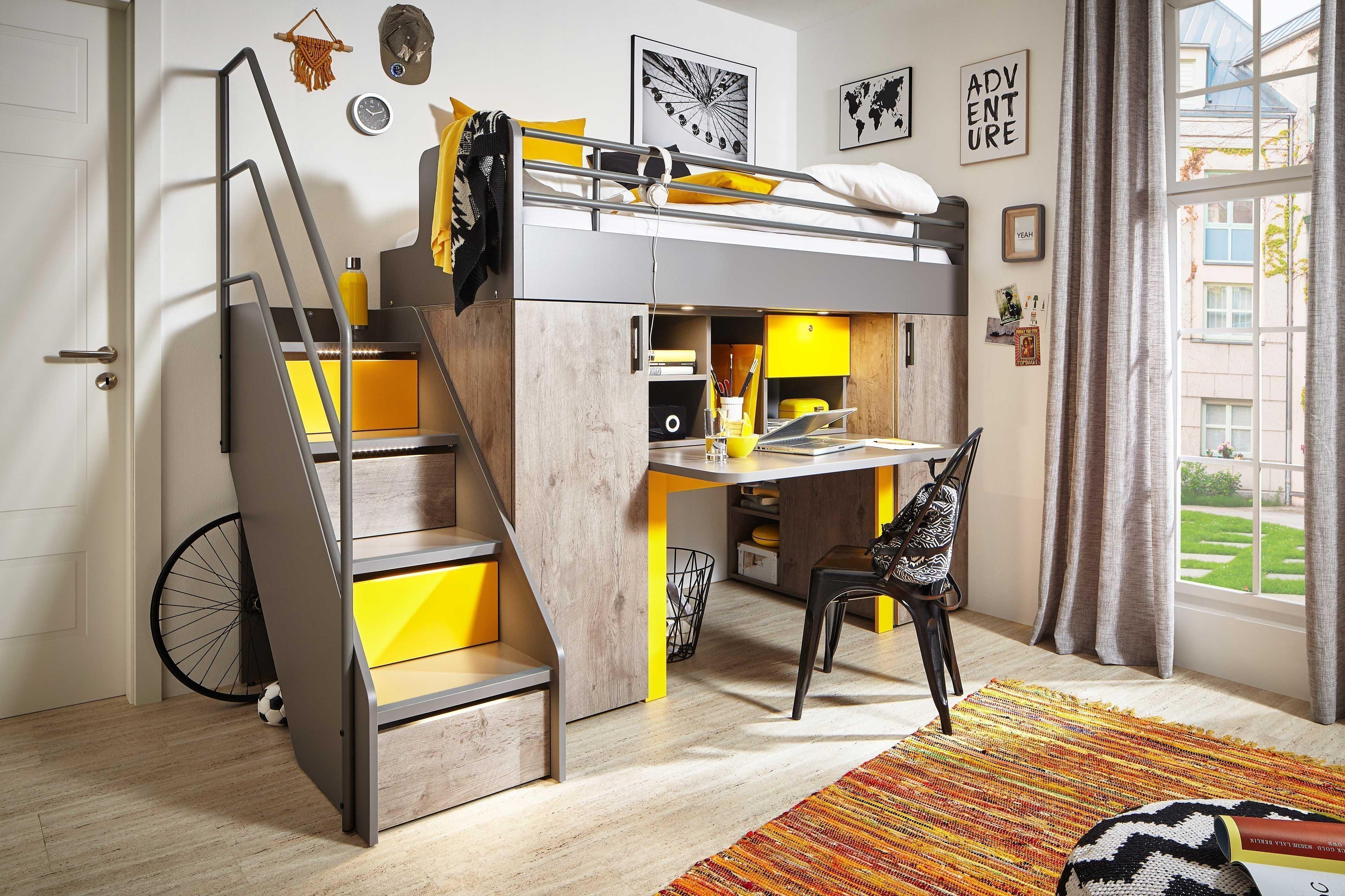 Rudolf Level 2 Hochbett Mit Schranken Und Schreibtisch Mobel