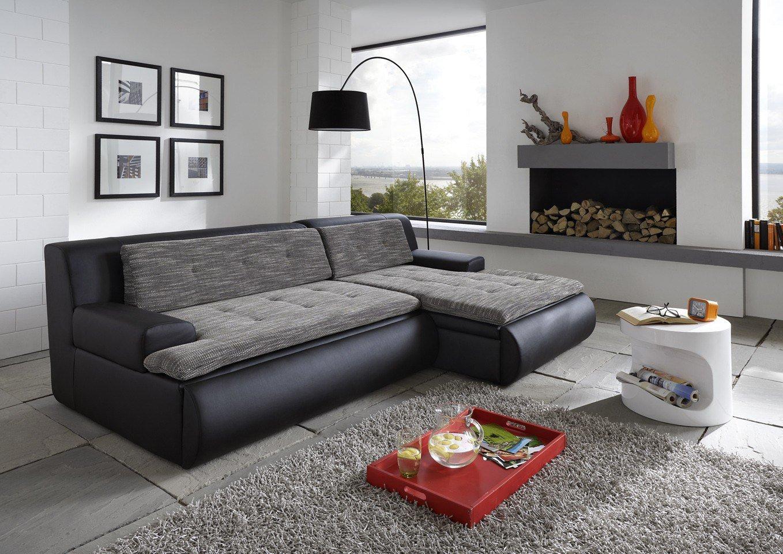 new look m bel live ecksofa in schwarz wei m bel letz ihr online shop. Black Bedroom Furniture Sets. Home Design Ideas
