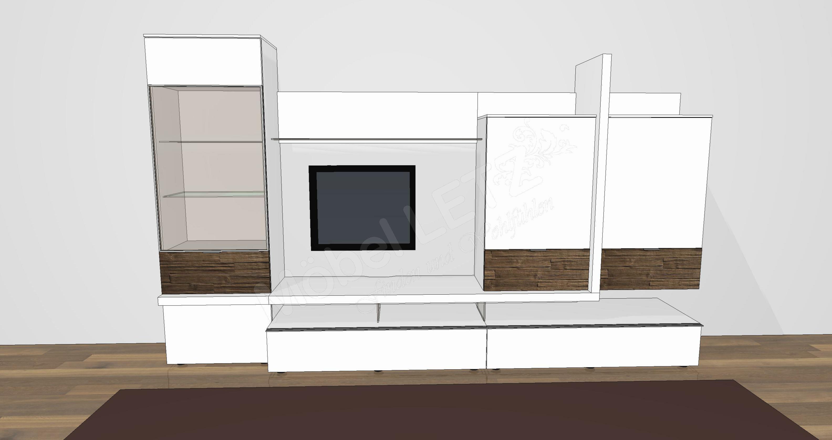 gwinner wohndesign wohnwand loreto lo1 m bel letz ihr. Black Bedroom Furniture Sets. Home Design Ideas