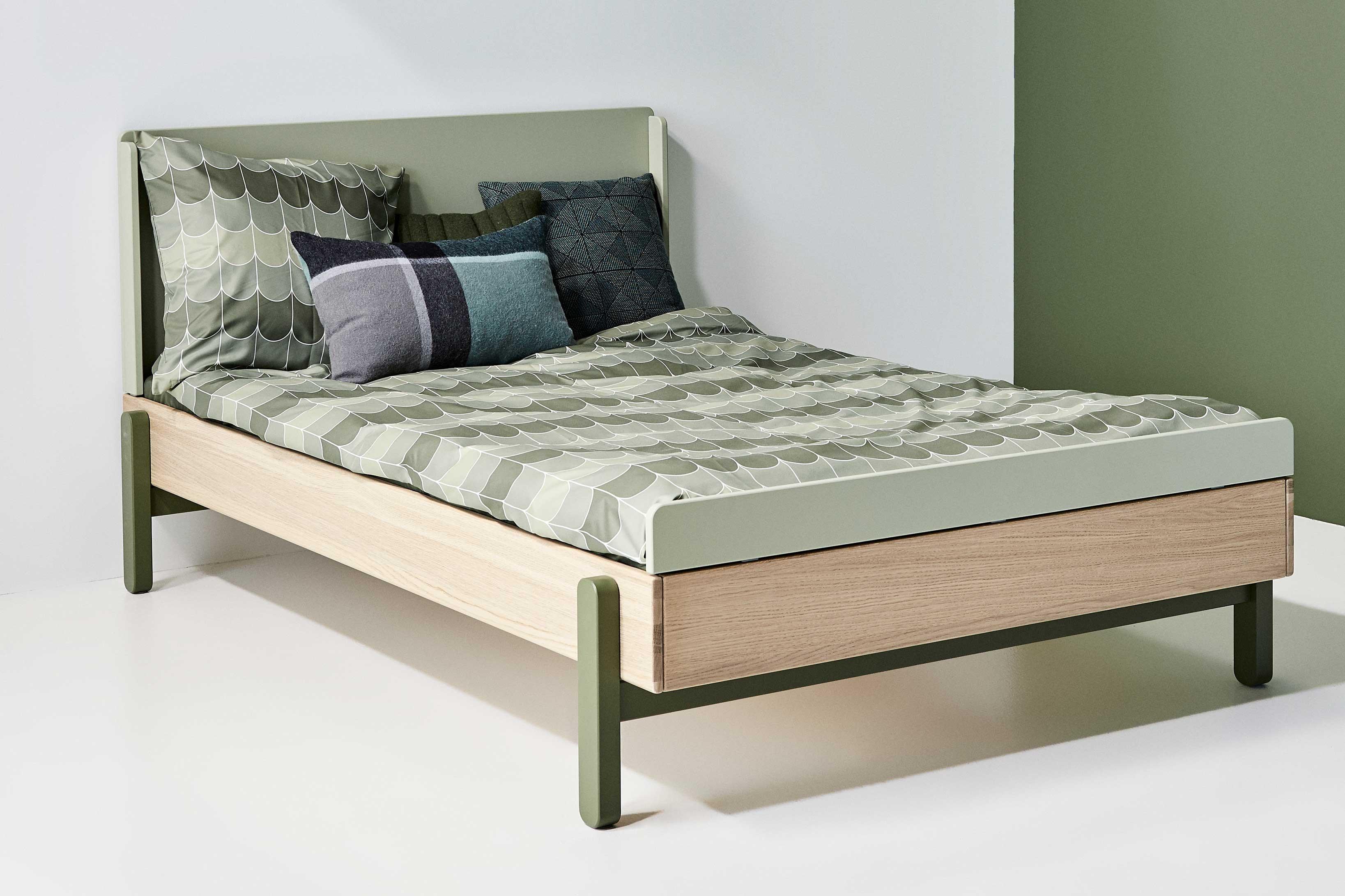 FLEXA popsicle Bett 12x12 cm Eiche   grün   Möbel Letz   Ihr ...