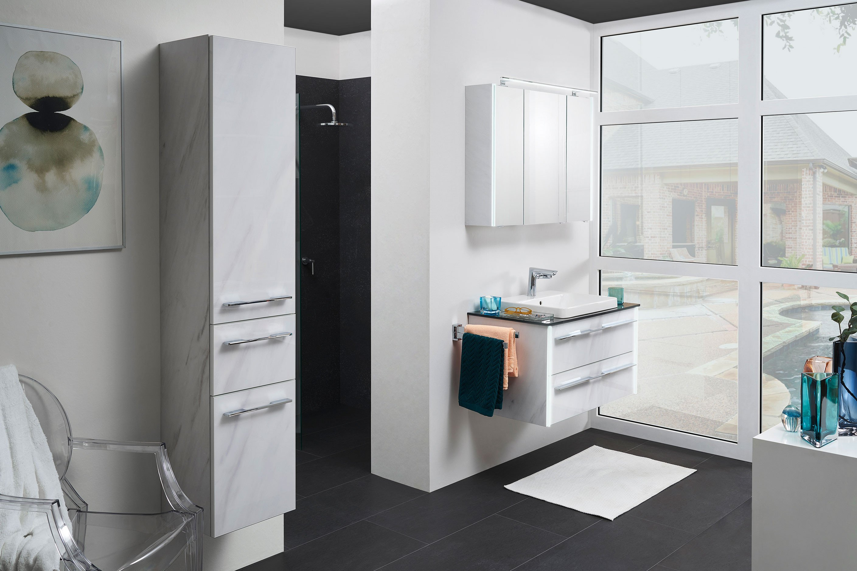 Leonardo Living Badezimmer Bad 116 In Glas Marmor Mobel Letz Ihr Online Shop