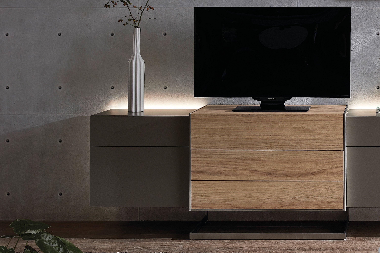 Die Hausmarke Media Design Lowboard Nougat Kanada Eiche