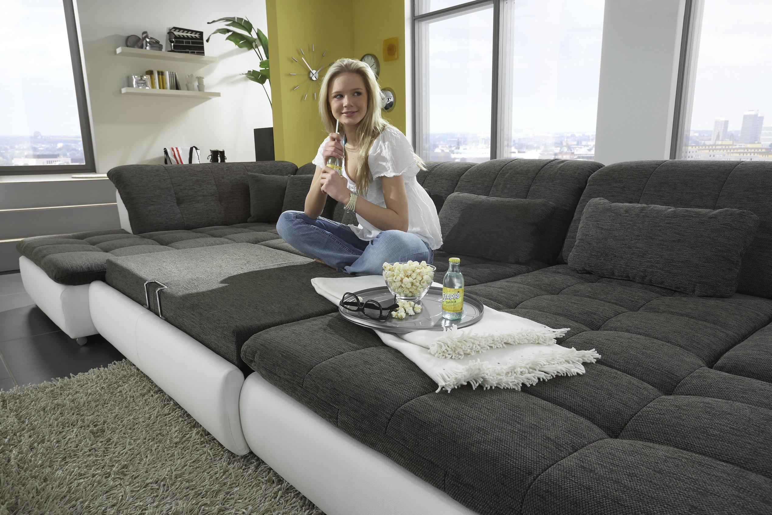 Megapol Couchgarnitur Lomo Weiss Grau Mobel Letz Ihr Online Shop