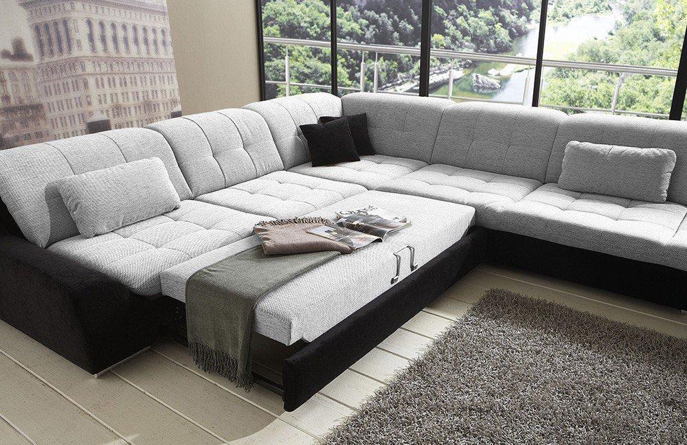 Eckcouch  Megapol Couch Spike schwarz-weiß | Möbel Letz - Ihr Online-Shop