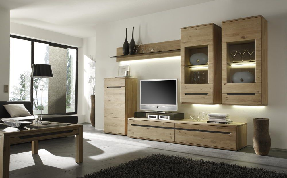 decker wohnwand ameno 18116 wildeiche massiv m bel letz. Black Bedroom Furniture Sets. Home Design Ideas
