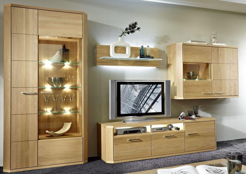 wohnwand delta v1 eiche natur von schr der wohnm bel m bel letz ihr online shop. Black Bedroom Furniture Sets. Home Design Ideas