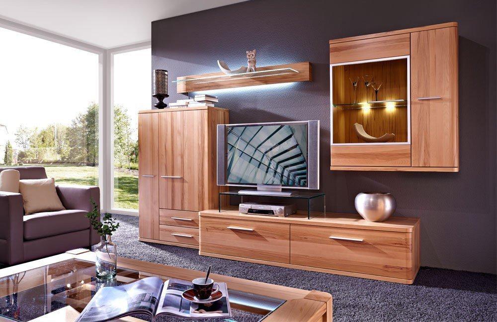 wohnwand kernbuche 5 andorra von schr der wohnm bel vorschlag 5. Black Bedroom Furniture Sets. Home Design Ideas