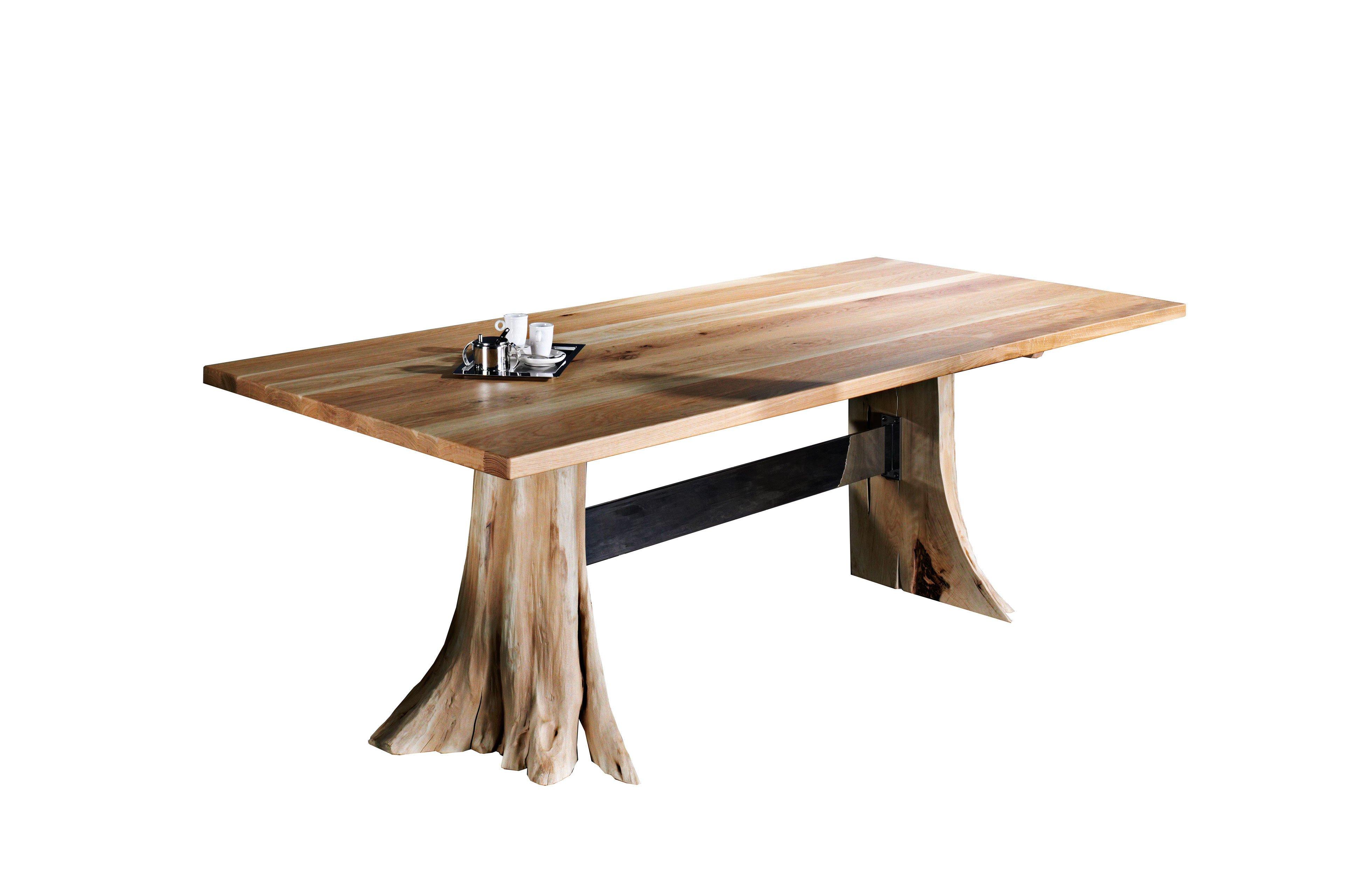Esstisch Baumstrunk von Sprenger Möbel Tisch aus Sumpfeiche