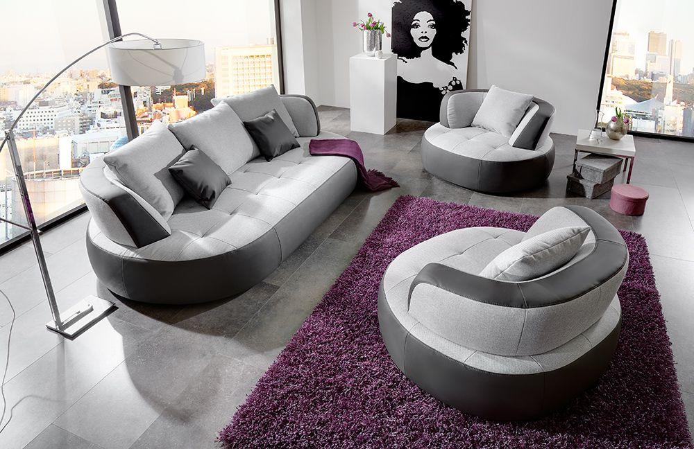 Megasofa grau  New Look Möbel Bali Megasofa in Grau | Möbel Letz - Ihr Online-Shop