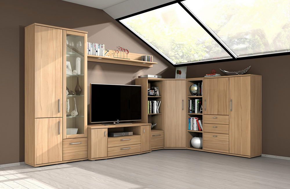 wohnwand wiek eb400e kernbuche von stralsunder m bel letz ihr online shop. Black Bedroom Furniture Sets. Home Design Ideas