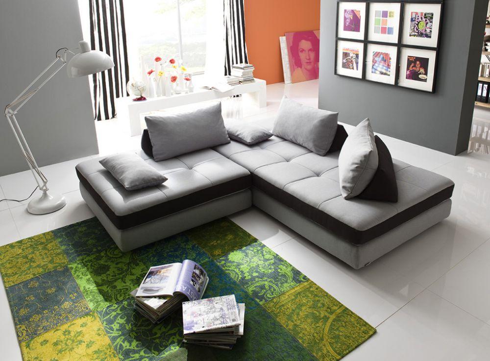 Eckcouch grau schwarz  New Look Möbel Freestyle Eckcouch grau-schwarz | Möbel Letz - Ihr ...