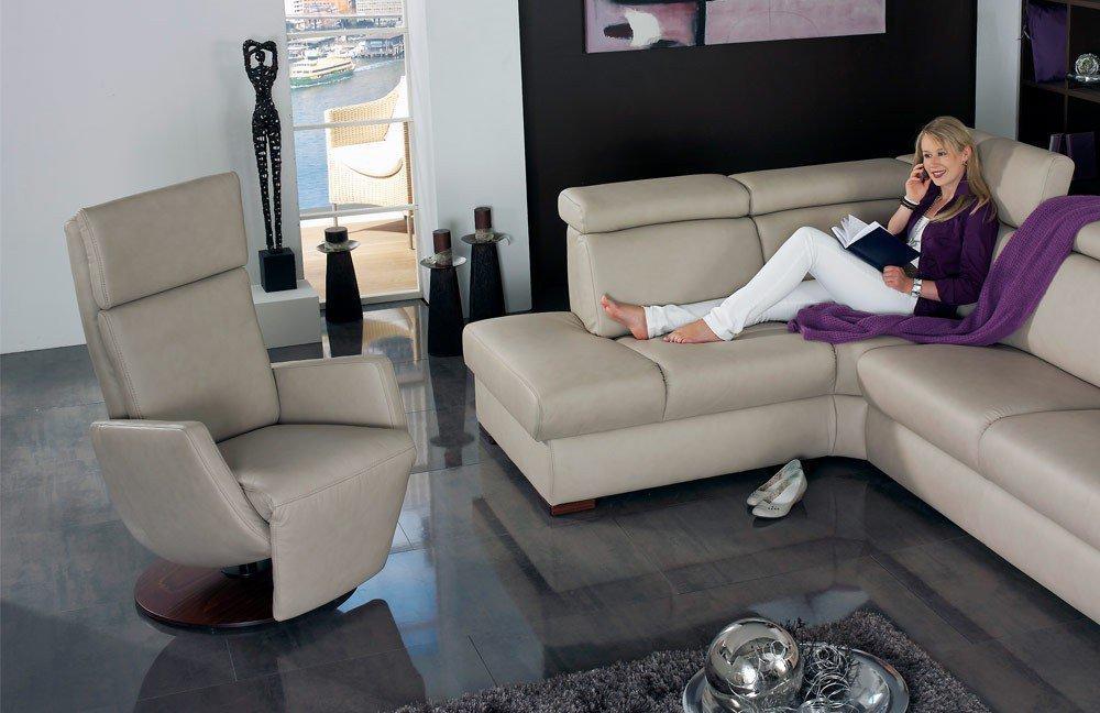 himolla polsterm bel ledersofa 1950 in beige m bel letz. Black Bedroom Furniture Sets. Home Design Ideas