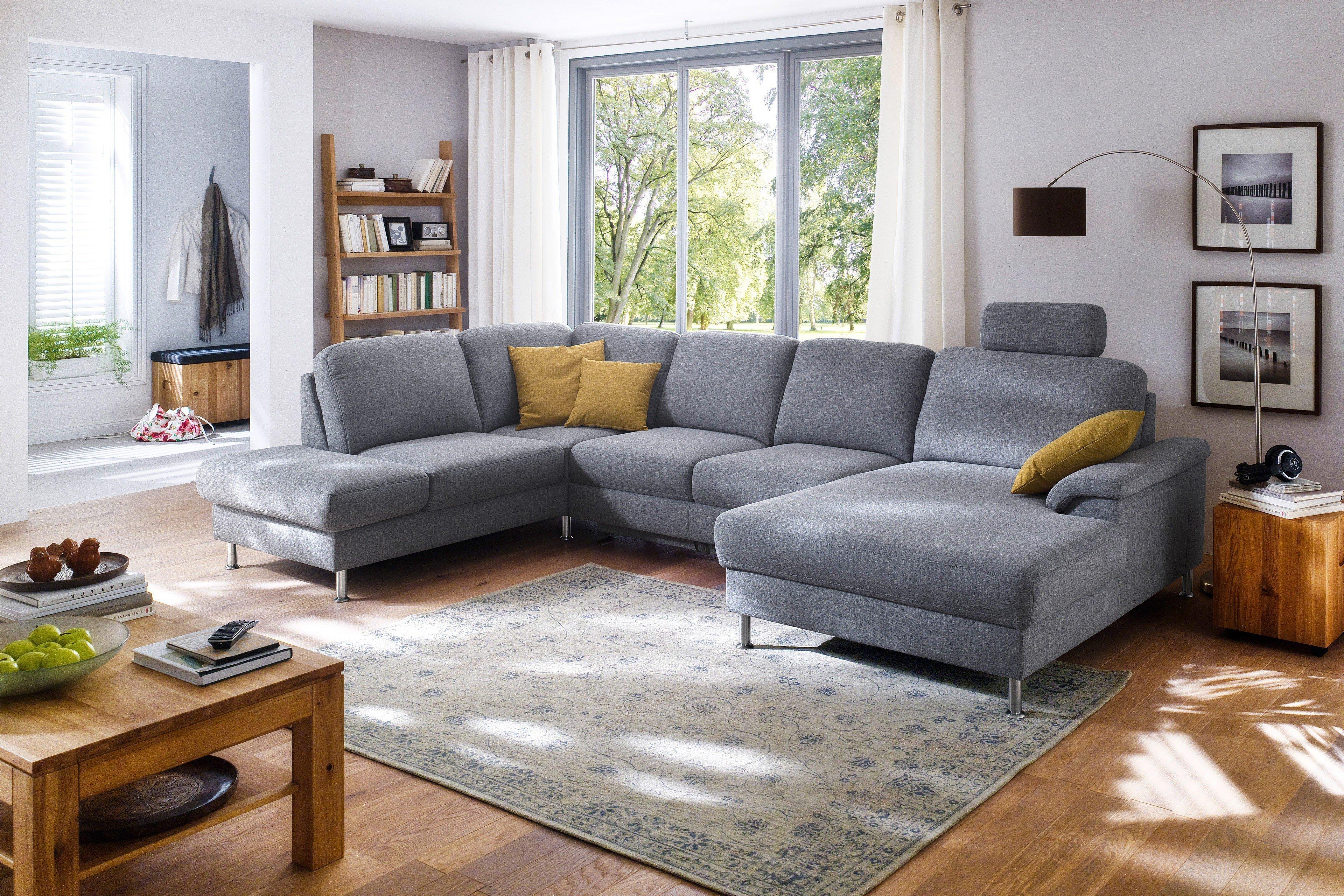 Carina Polstermöbel U-Sofa Bella in Grau | Möbel Letz - Ihr Online-Shop