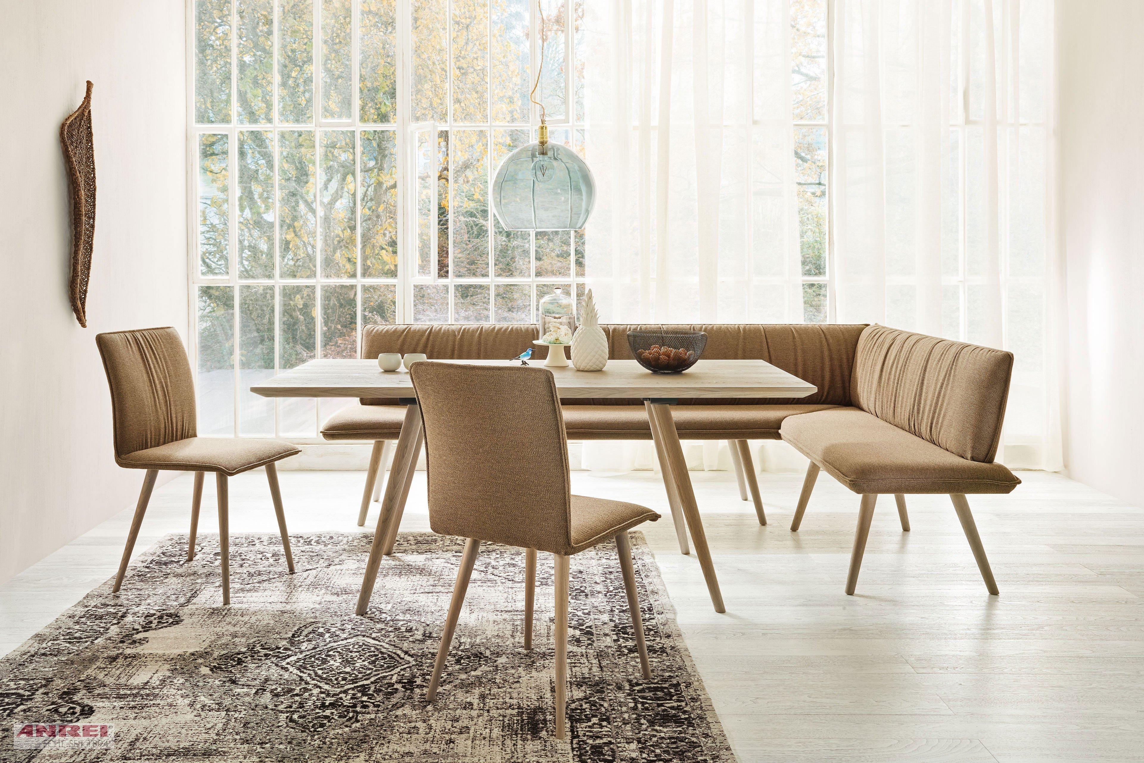 Listo von ANREI Esszimmer mit Eckbank, Tisch & 2 Stühlen