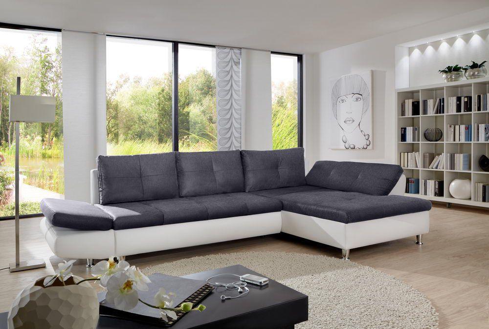 polstergarnitur coucho wei graphite von sit more m bel letz ihr online shop. Black Bedroom Furniture Sets. Home Design Ideas