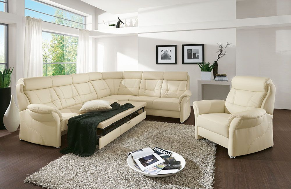 polsteria polsterm bel home comfort polstergarnitur sardinien creme m bel letz ihr online shop. Black Bedroom Furniture Sets. Home Design Ideas
