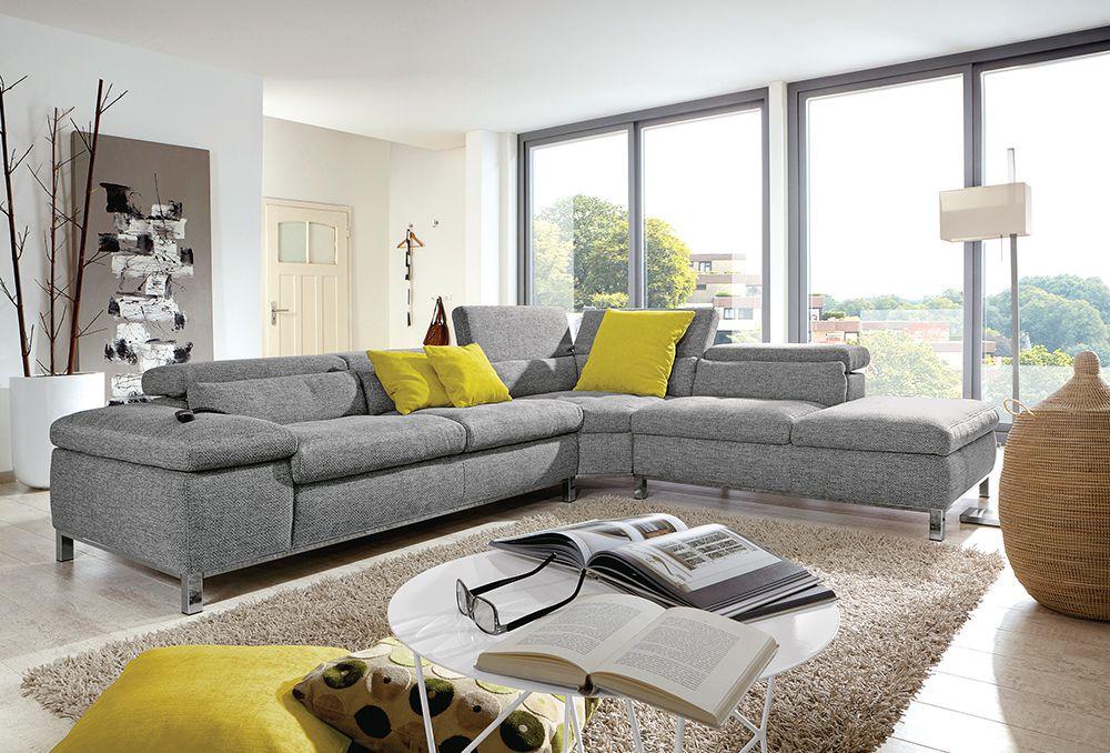 viareggio von poco polstergarnitur grau polsterm bel g nstig online kaufen sofa couch. Black Bedroom Furniture Sets. Home Design Ideas