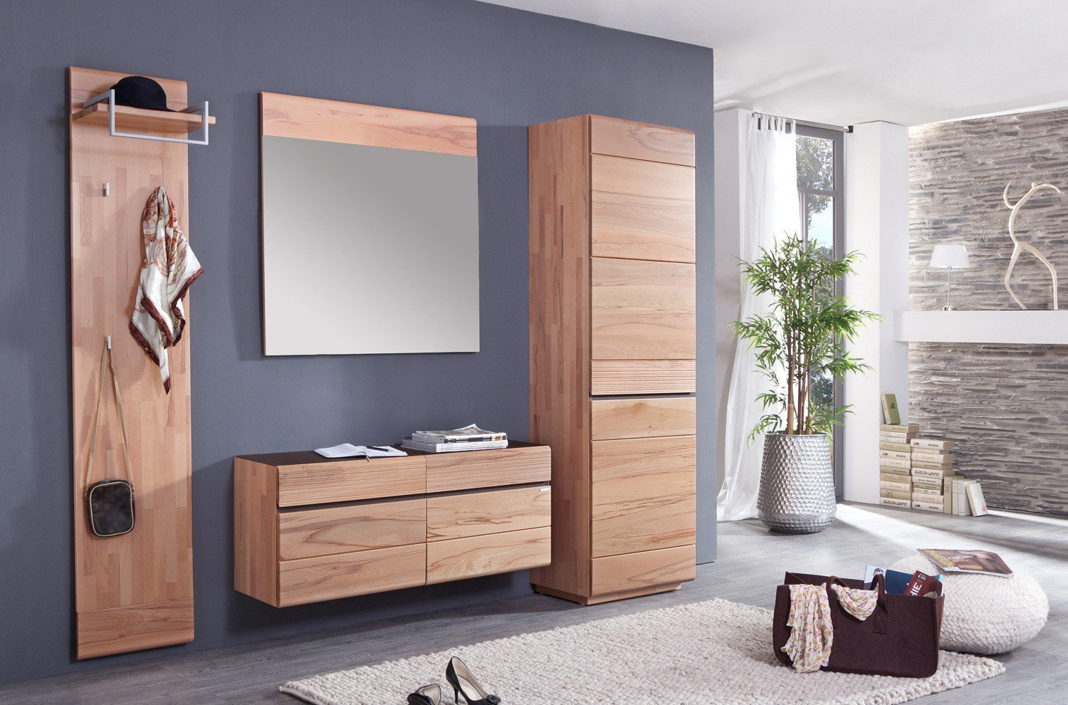 bienenm hle garderobe cosima kernbuche teil massiv m bel letz ihr online shop. Black Bedroom Furniture Sets. Home Design Ideas
