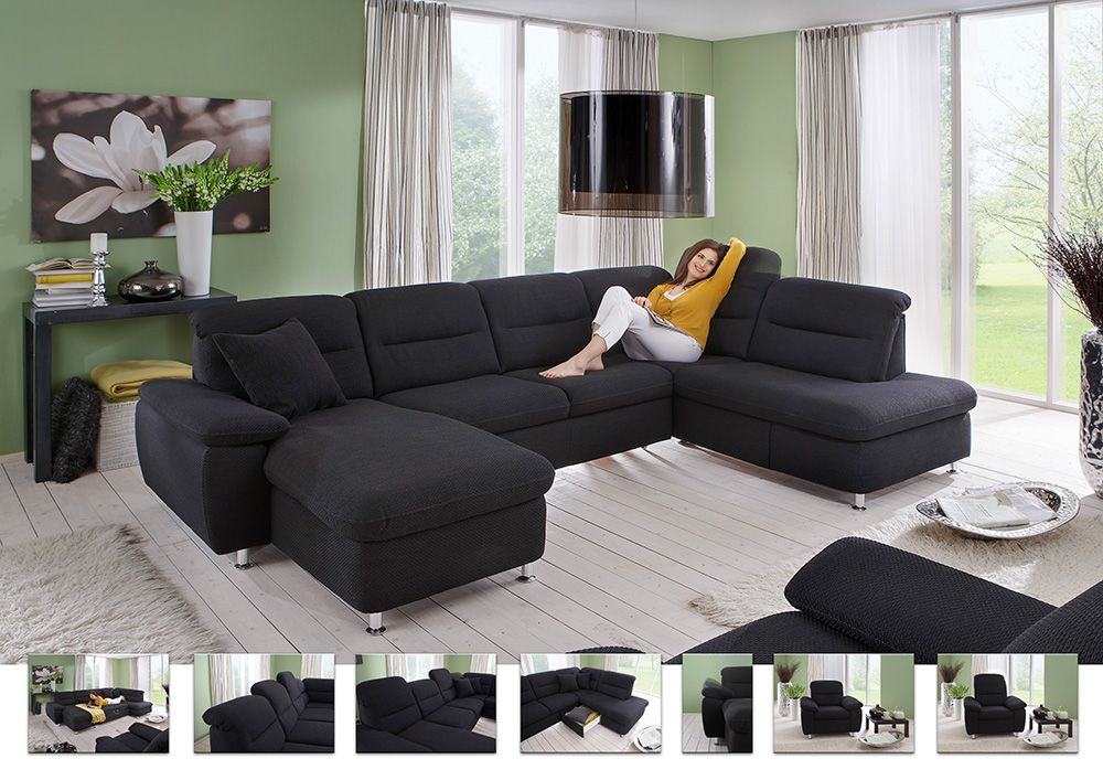amora von zehdenick wohnlandschaft schwarz polsterm bel g nstig online kaufen sofa couch. Black Bedroom Furniture Sets. Home Design Ideas