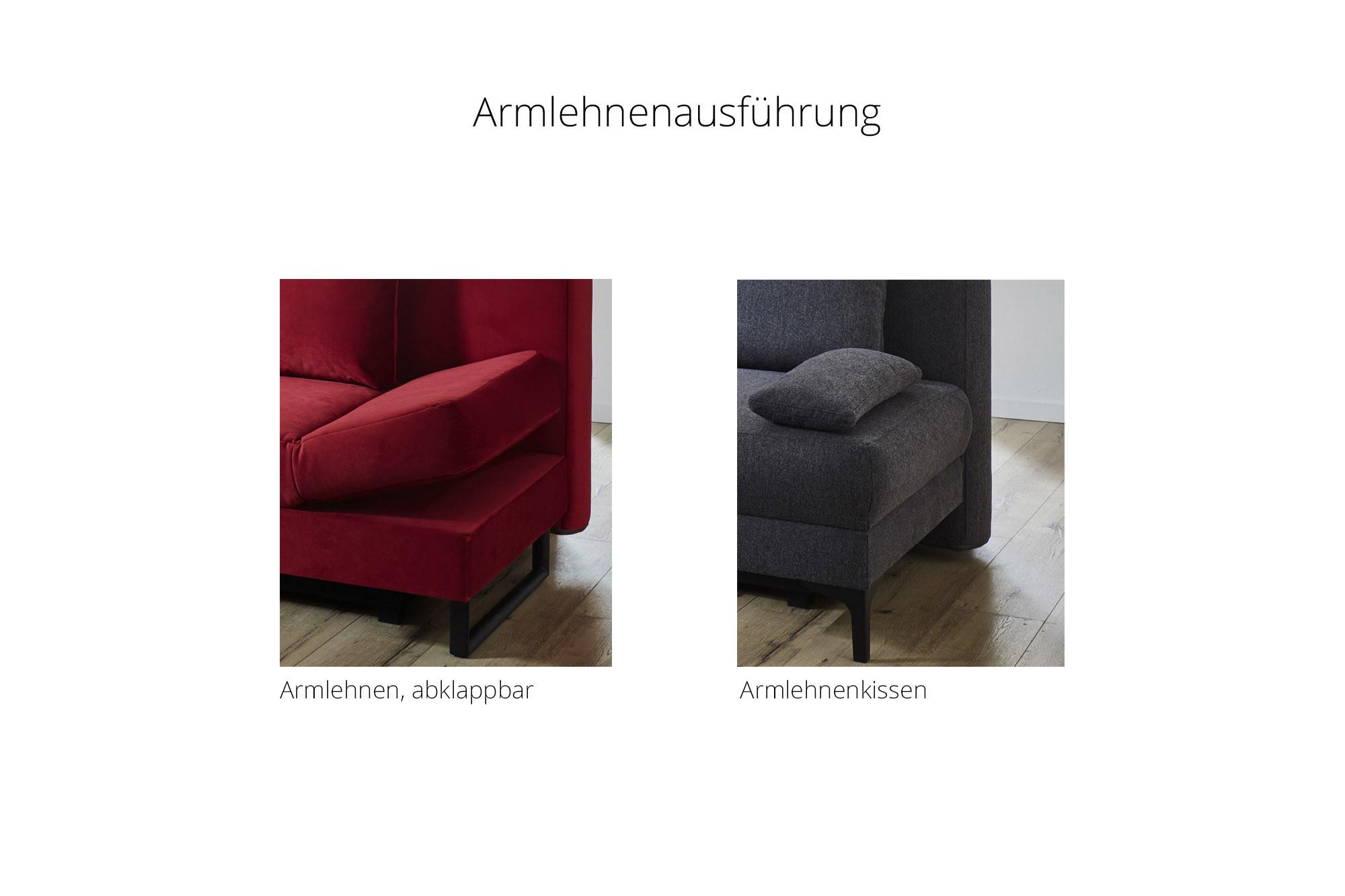 Nehl Genua Schlafcouch anthrazit mit Bettkasten   Möbel Letz   Ihr ...
