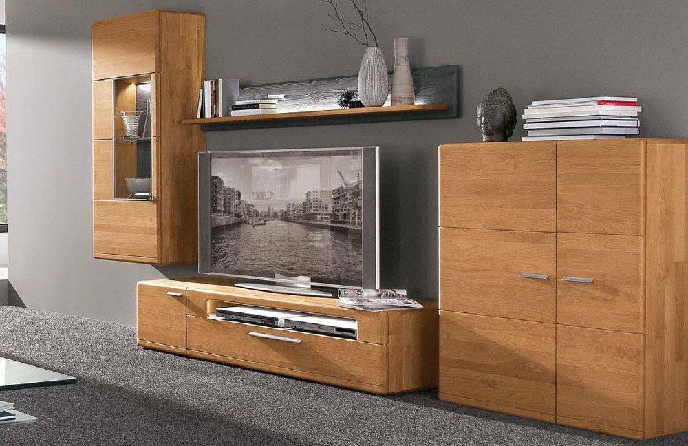 wohnwand curve von hartmann nr 24 g erle massiv m bel letz. Black Bedroom Furniture Sets. Home Design Ideas