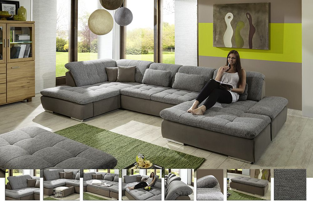 xxl sofa lomo in braun von megapol m bel letz ihr. Black Bedroom Furniture Sets. Home Design Ideas