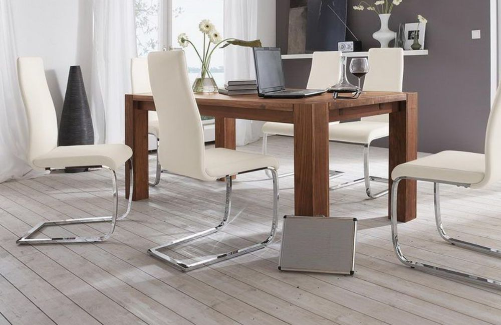 tisch massiva ts von niehoff esstisch wild nussbaum dielenm bel und flurm bel online kaufen. Black Bedroom Furniture Sets. Home Design Ideas