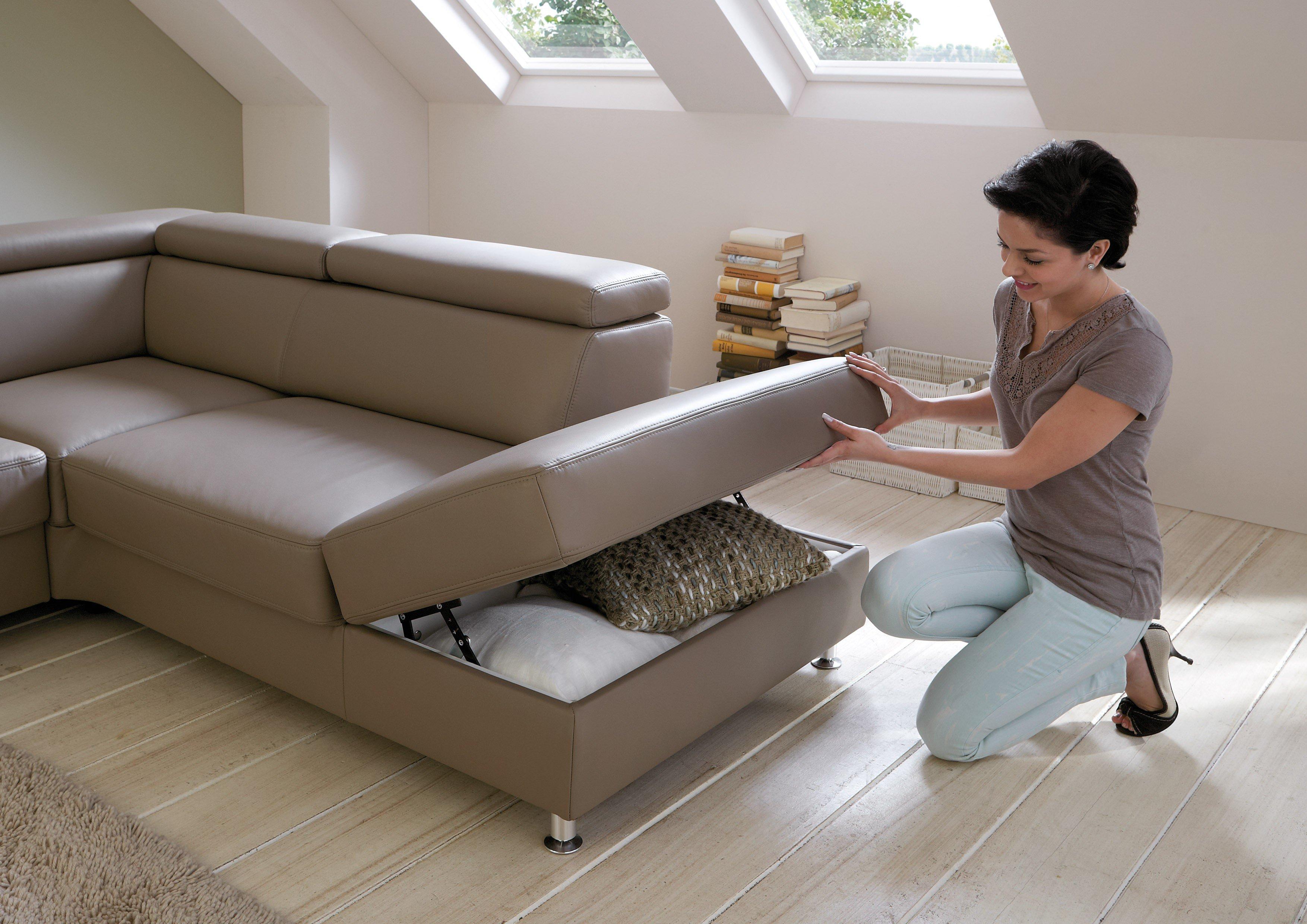 polinova calisto l ledersofa stone m bel letz ihr online shop. Black Bedroom Furniture Sets. Home Design Ideas
