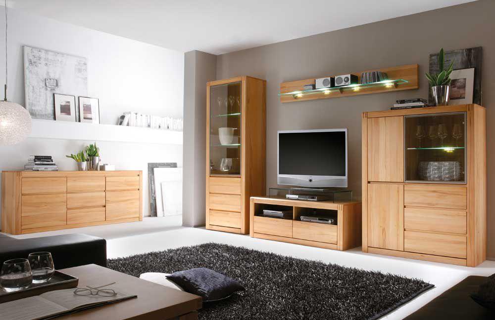 inter furn wohnwand ponto 1160 955 65 aus kernbuche. Black Bedroom Furniture Sets. Home Design Ideas