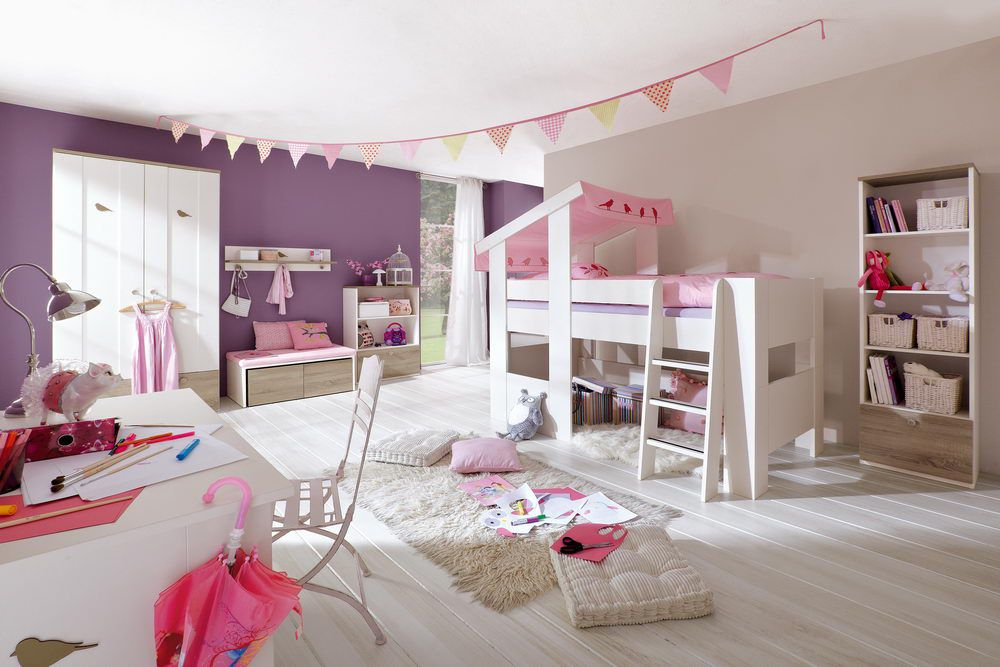 cosy von r hr bush kinderzimmer mit hochbett. Black Bedroom Furniture Sets. Home Design Ideas