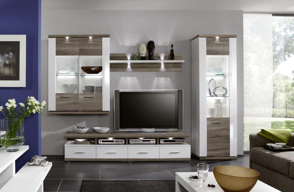 Lieblich Manhattan Von IDEAL Möbel   Wohnwand 2B Weiß/ Graphit