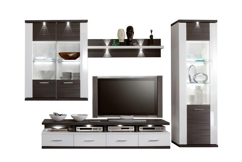 IDEAL Möbel Wohnwand Manhattan 2B weiß/ graphit | Möbel Letz - Ihr ...