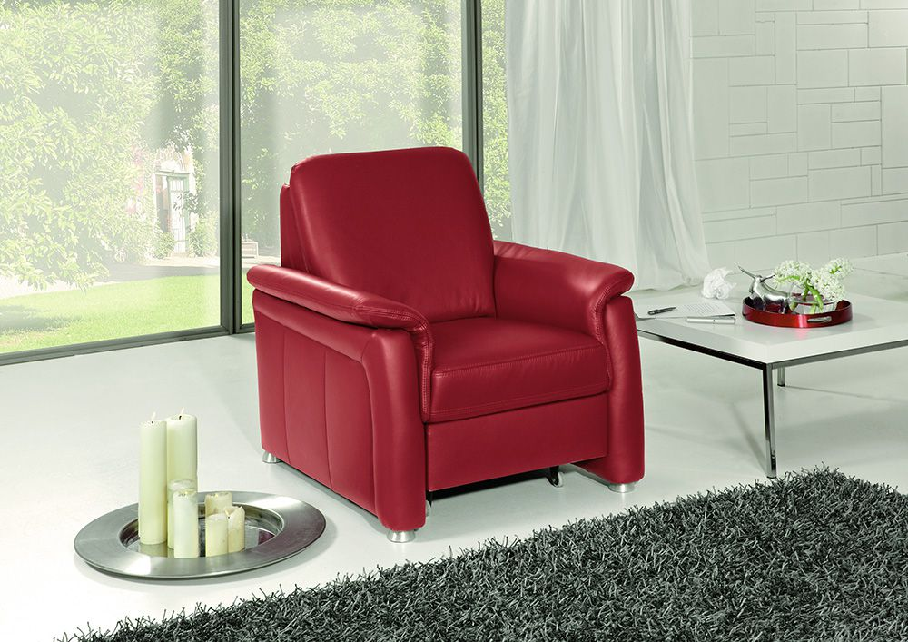 polinova roulette l ledersofa rot m bel letz ihr. Black Bedroom Furniture Sets. Home Design Ideas