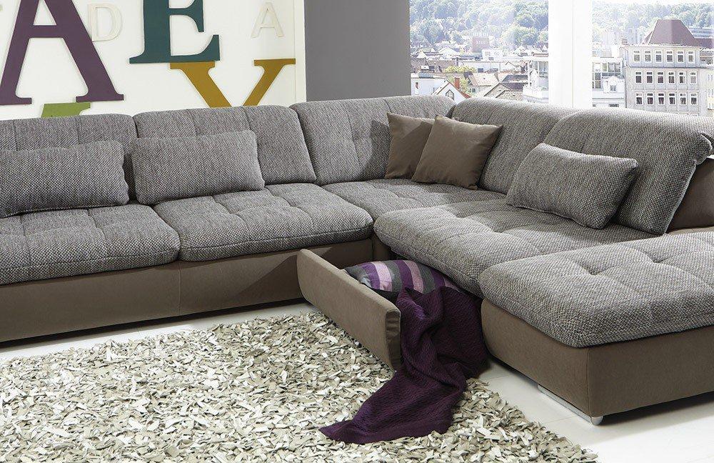megapol dreamer diego desire ecksofa braun m bel letz ihr online shop. Black Bedroom Furniture Sets. Home Design Ideas